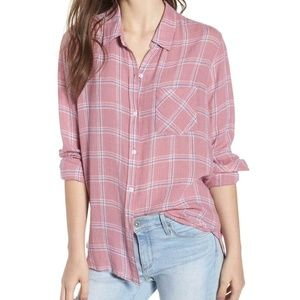 Rails Plaid Charli Dusty Rose Top Shirt Blouse But
